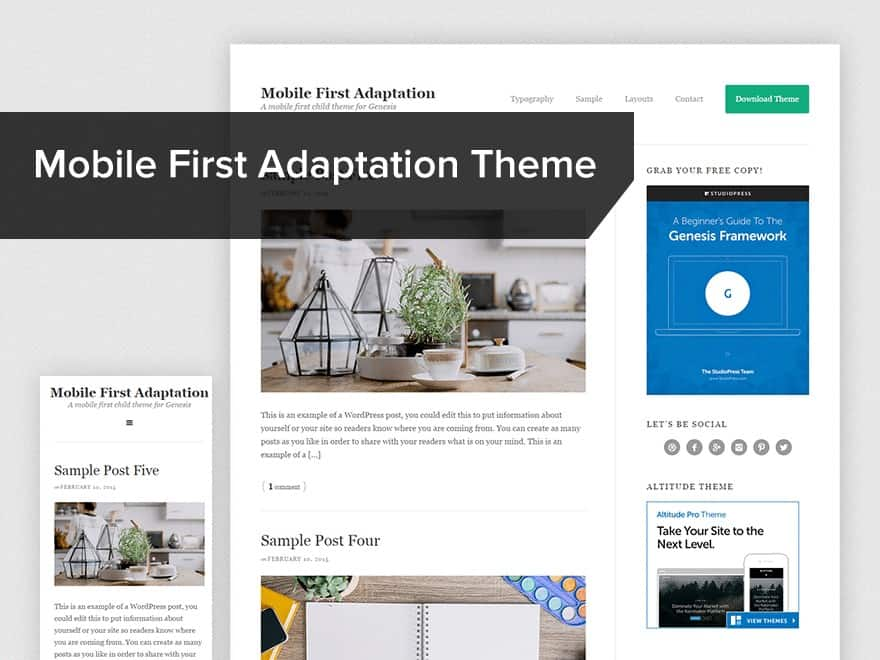 Mobile first adoption child-theme