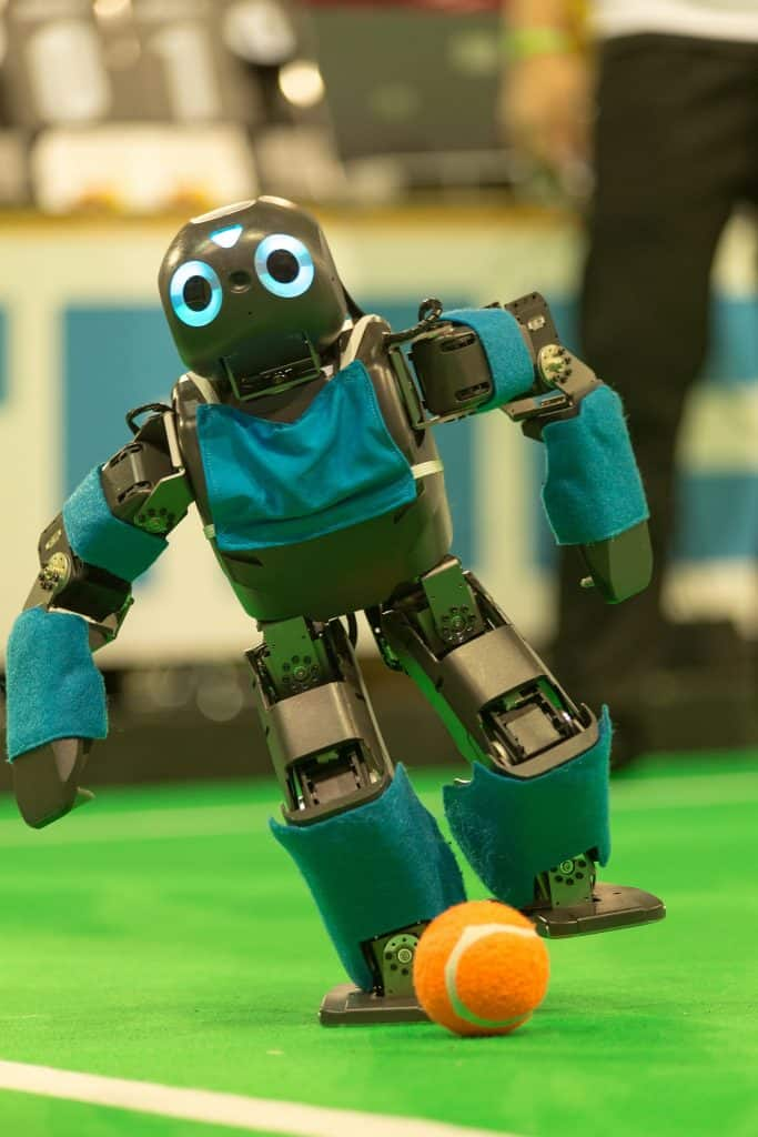 A robot at the RoboCup in 2013
