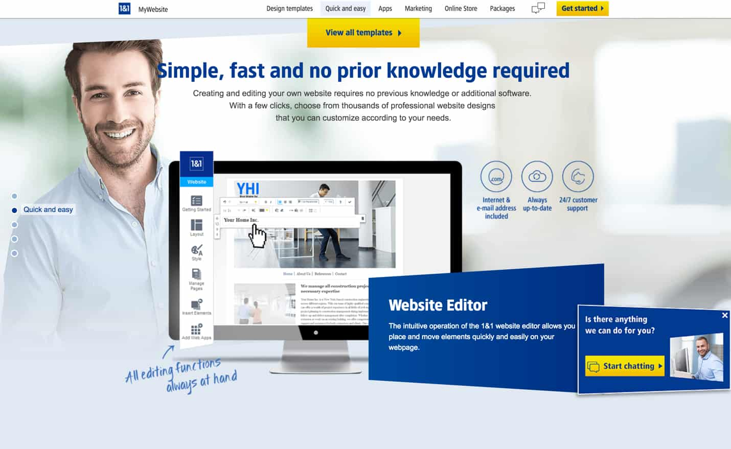 1&1 website builder review