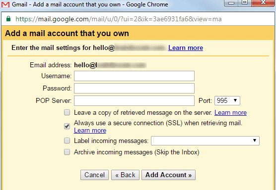 gmail email settings