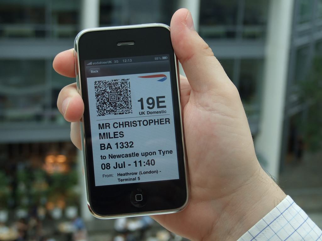 BA mobile app for iPhone - Mobile boarding pass