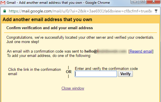 confirm gmail