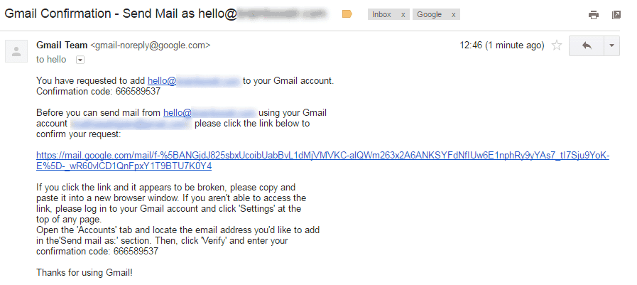 gmail confirmation link