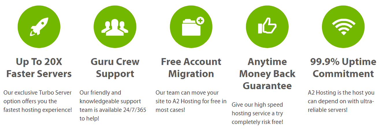 A2 Hosting has several features to make it stand out from competitors.