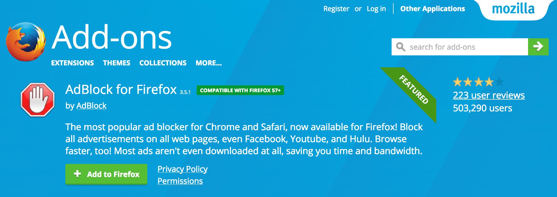 AddBlock for Firefox