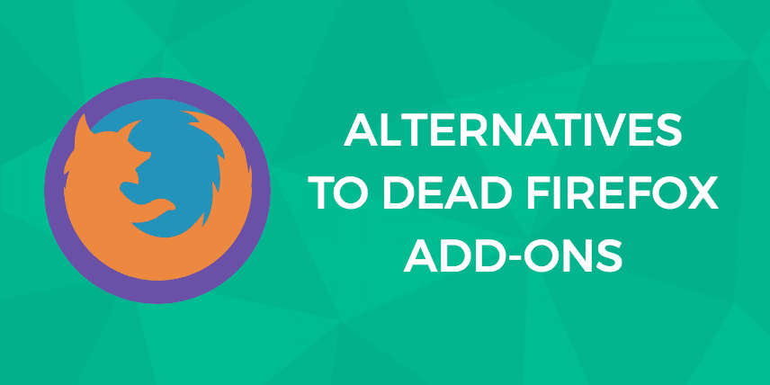 Alternative WebExtensions Firefox Add-Ons