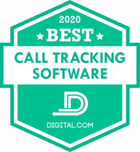 Best Call Tracking Software Badge