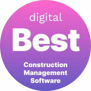 Best Construction Management Software Badge