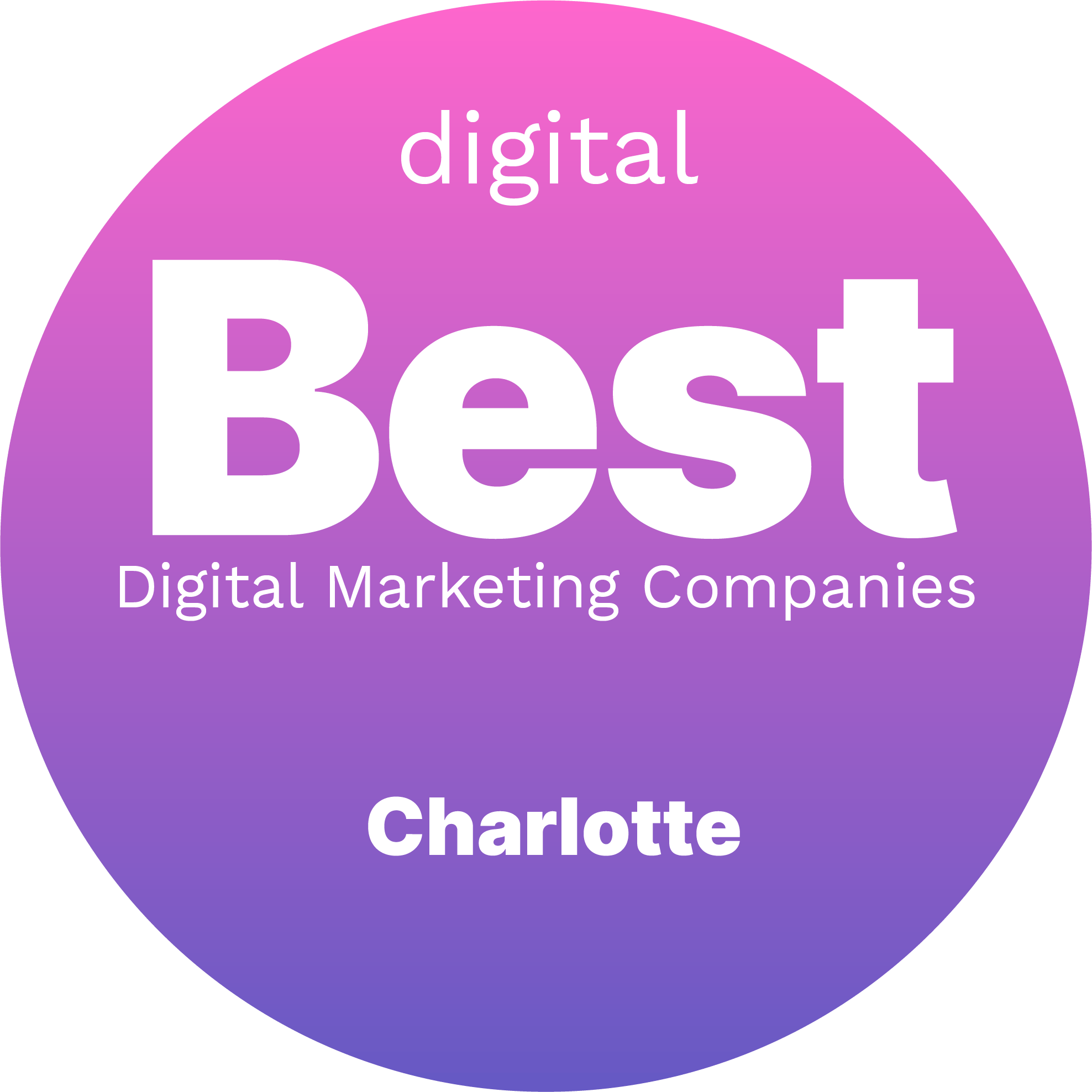 The Best Digital Marketing Companies in Charlotte Badge
