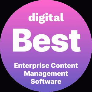 Best Enterprise Content Management Software Badge