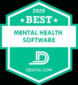 Best Mental Health Software of 2020 Badge