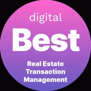Best Real Estate Transaction Management Badge