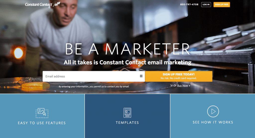 Constant Contact homepage
