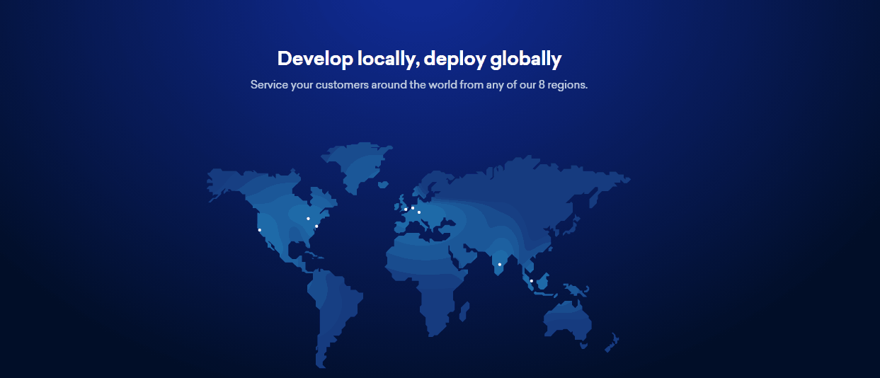 Screenshot of map of DigitalOcean datacenters