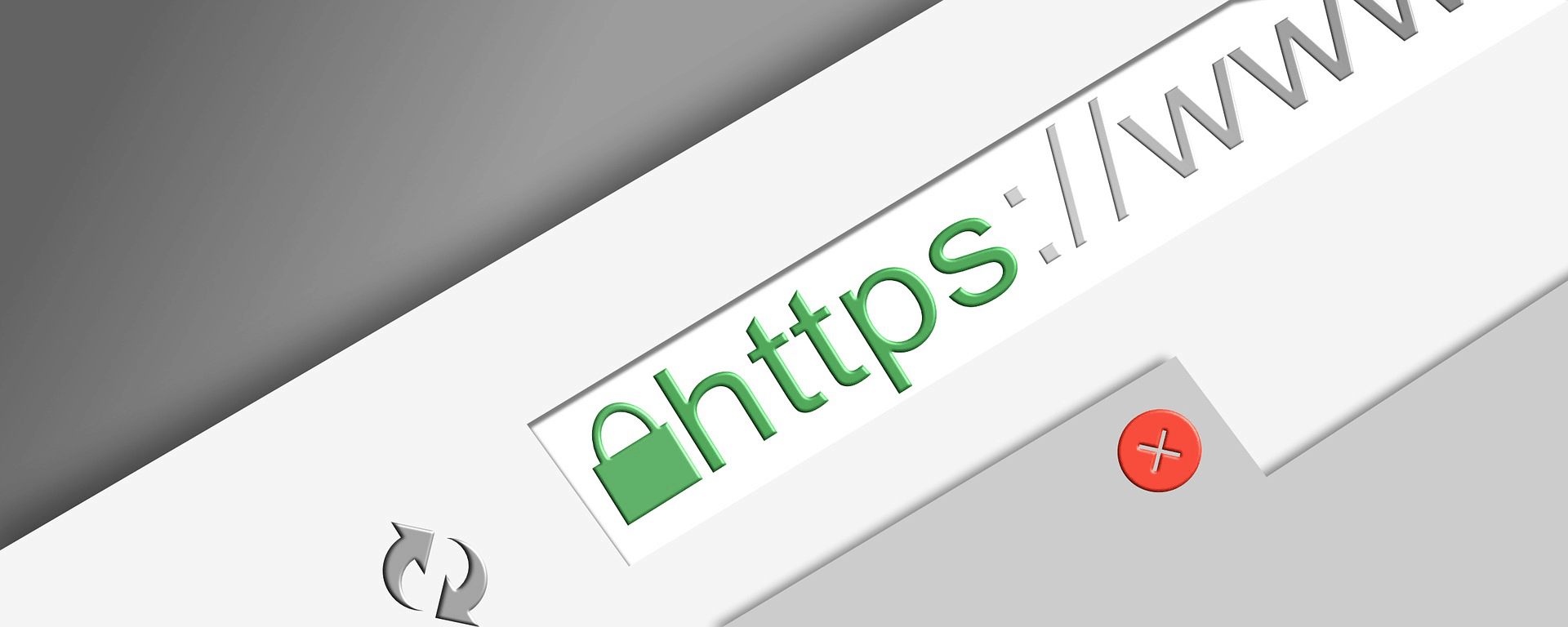 The SSL icon in the browser bar