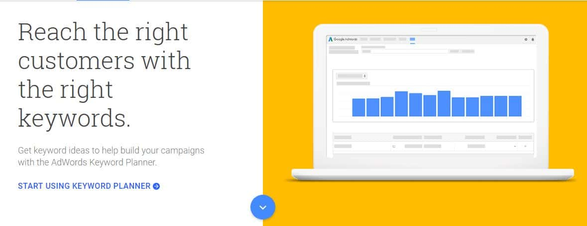Google's free Keyword tool lets you conduct keyword research.