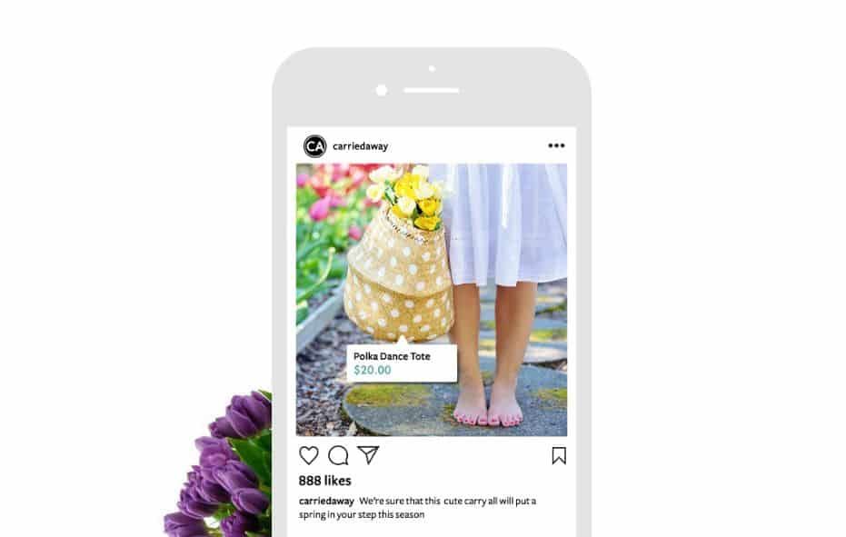 Instagram's product price tag feature id
