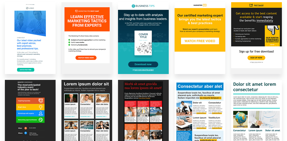 GetResponse Online Marketing Templates
