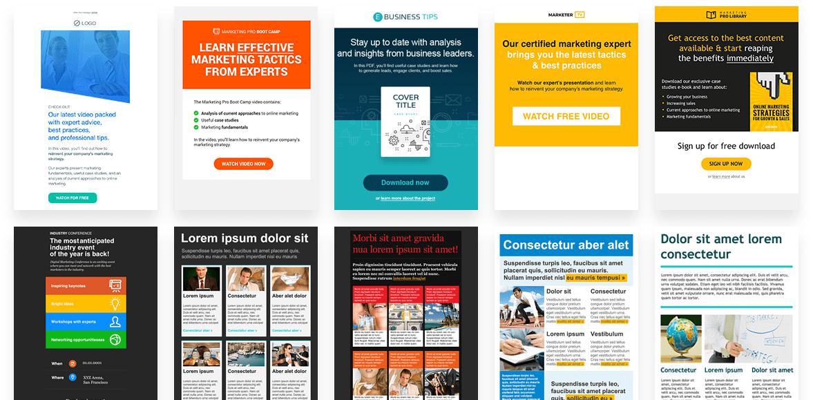 GetResponse Online Marketing Templates