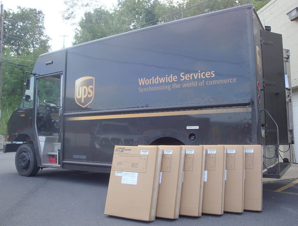 UPS Ground vehicle and parcels