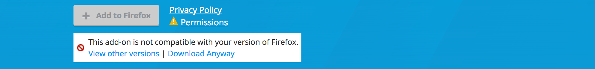 Incompatible with Firefox 57