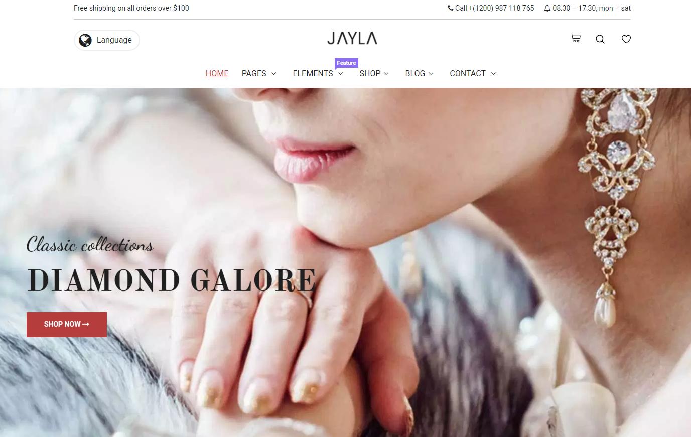 Jayla WordPress theme
