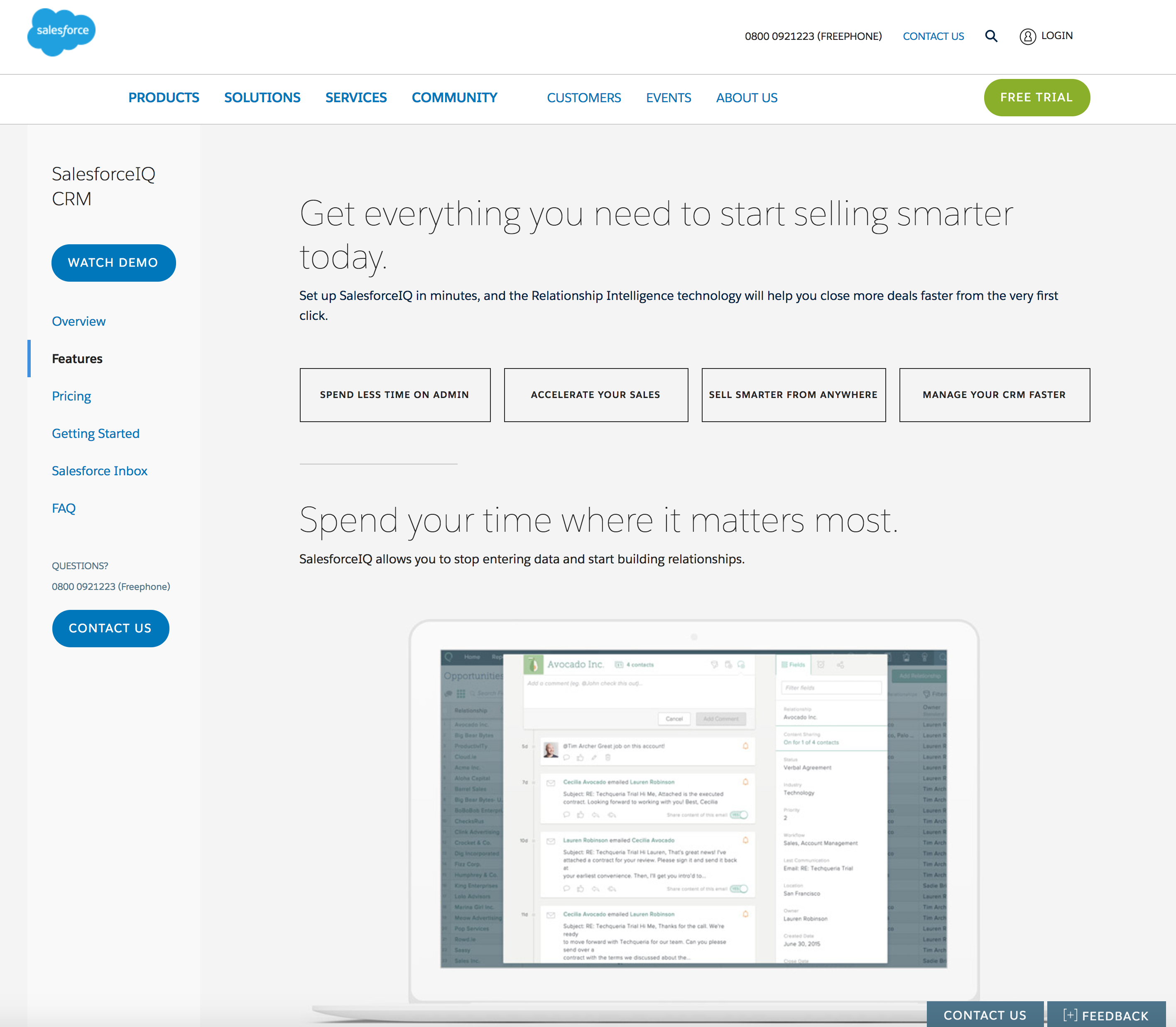 Salesforce website