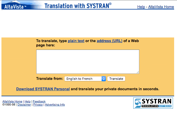 Systran screenshot