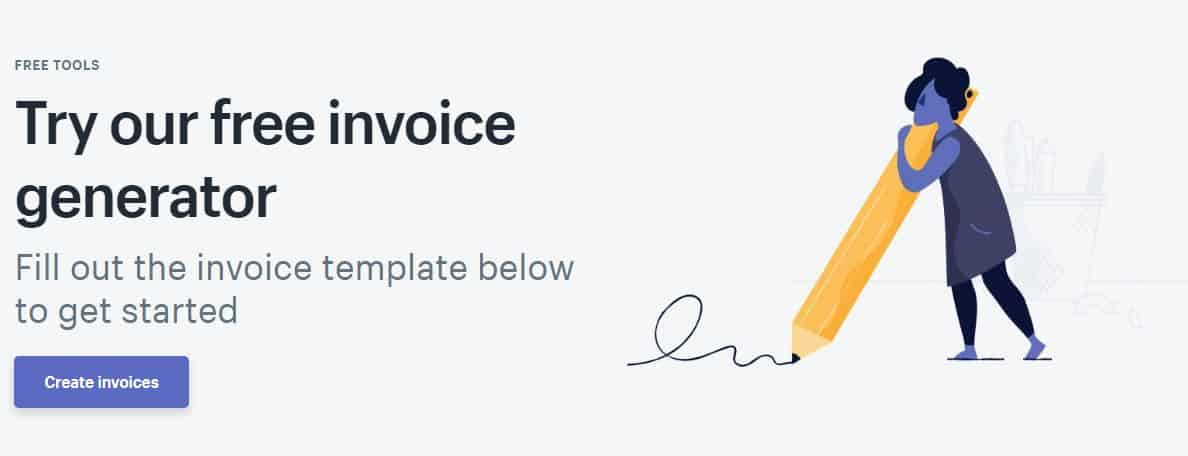 Shopify has a free invoice generator.