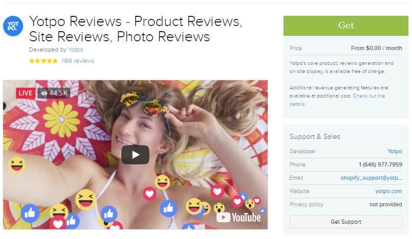 Yotpo helps you use customer reviews to increase sales.