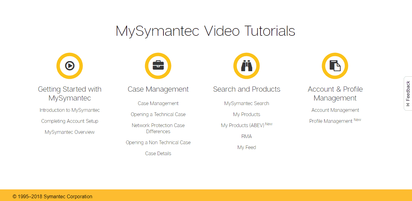 Symantec Video Tutorials