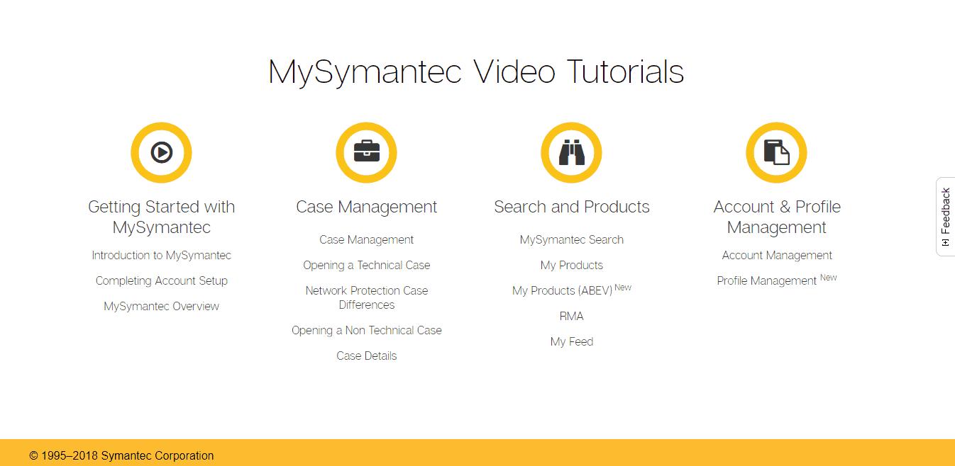Symantec Video Tutorials