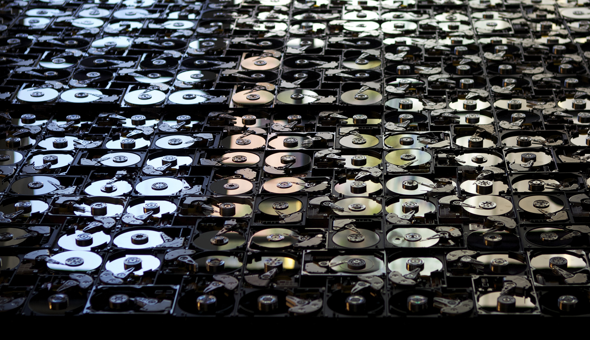 Wall of hard drives