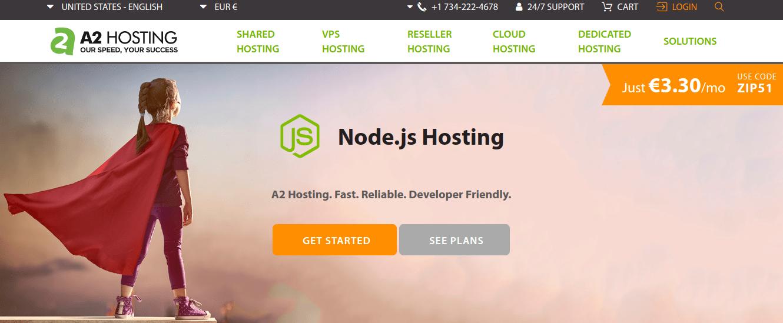 A2 Hosting Homepage Screenshot via WhoIsHostingThis