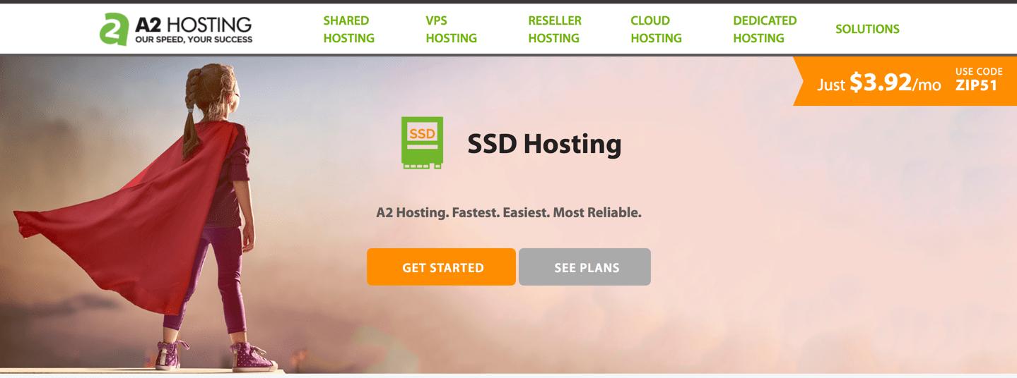 a2 hosting ssd