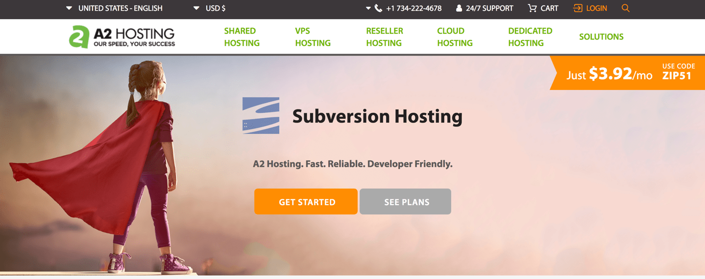 a2 hosting subversion