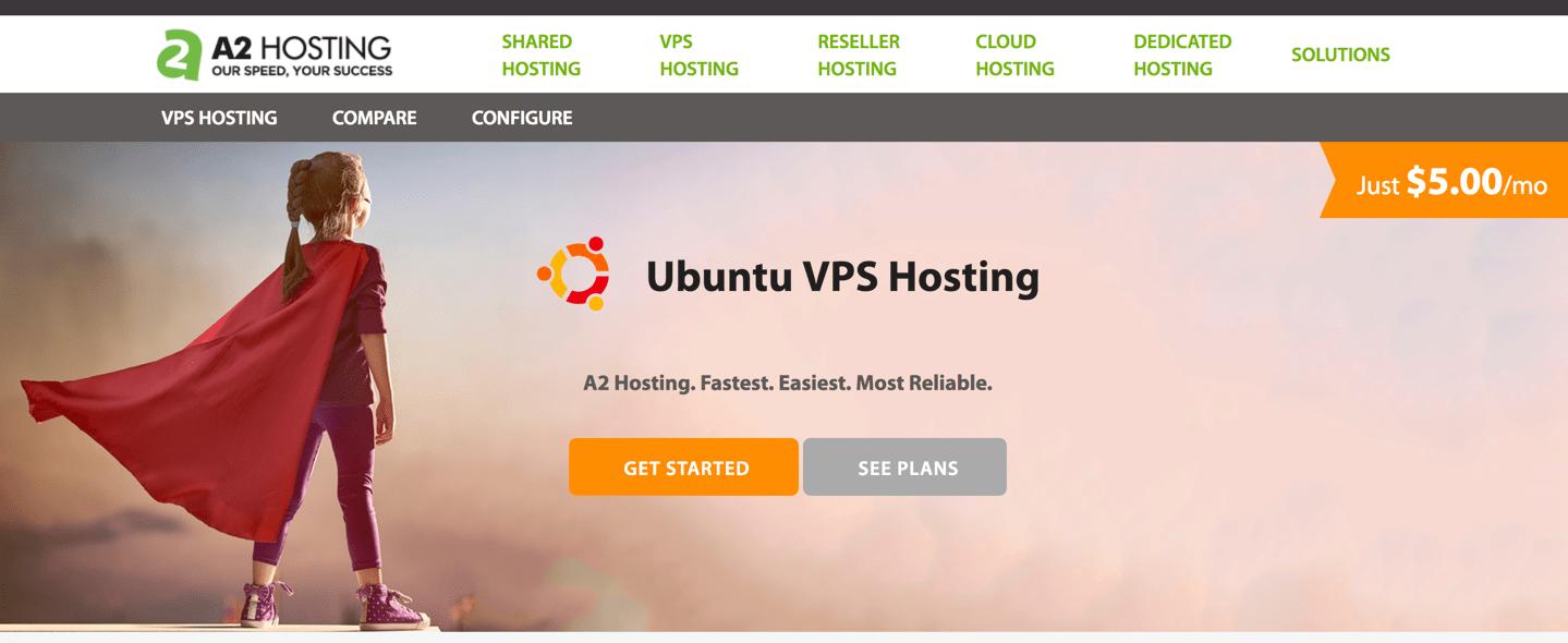 a2 hosting ubuntu