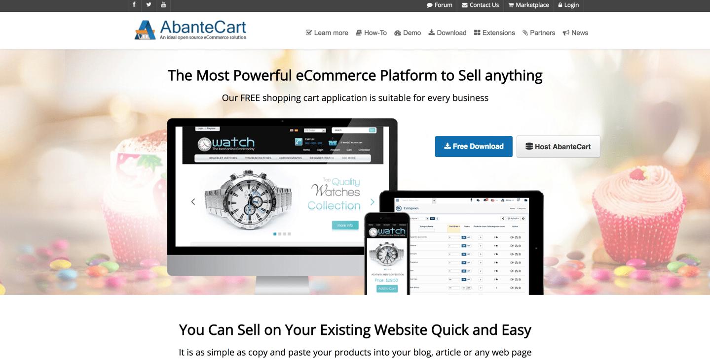 abantecart homepage