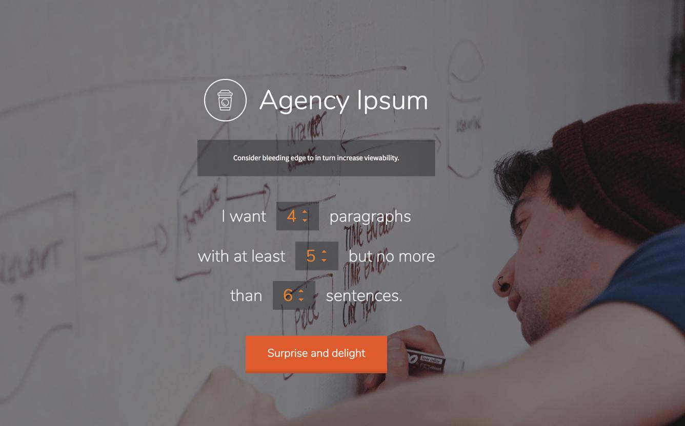 agency ipsum