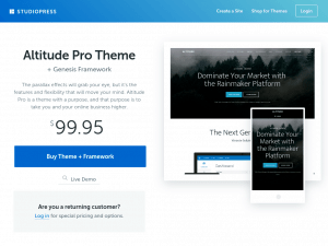 Altitude Pro homepage