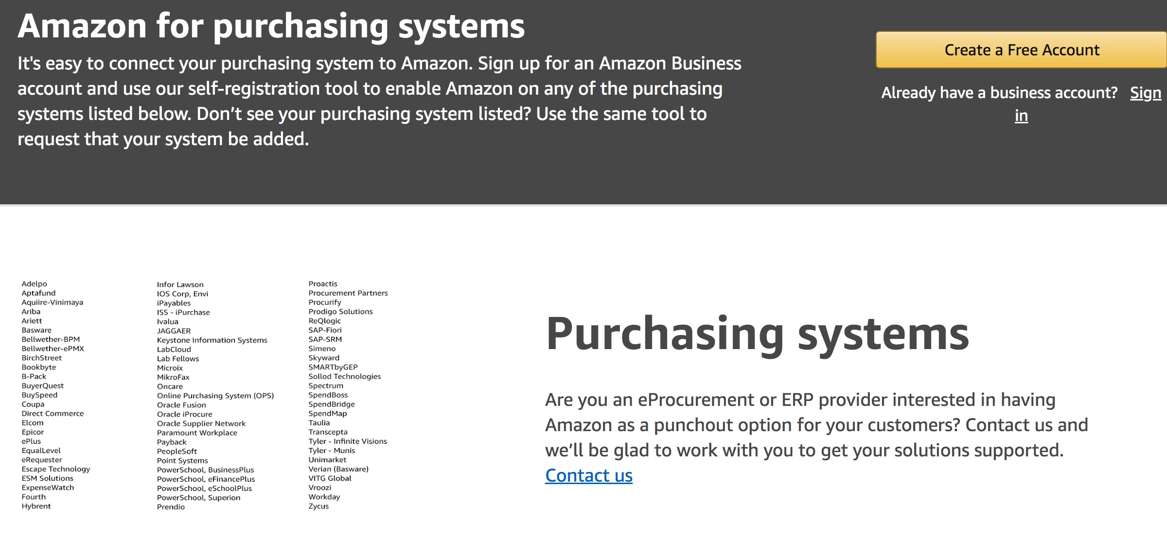 Amazon Purchasing Systems