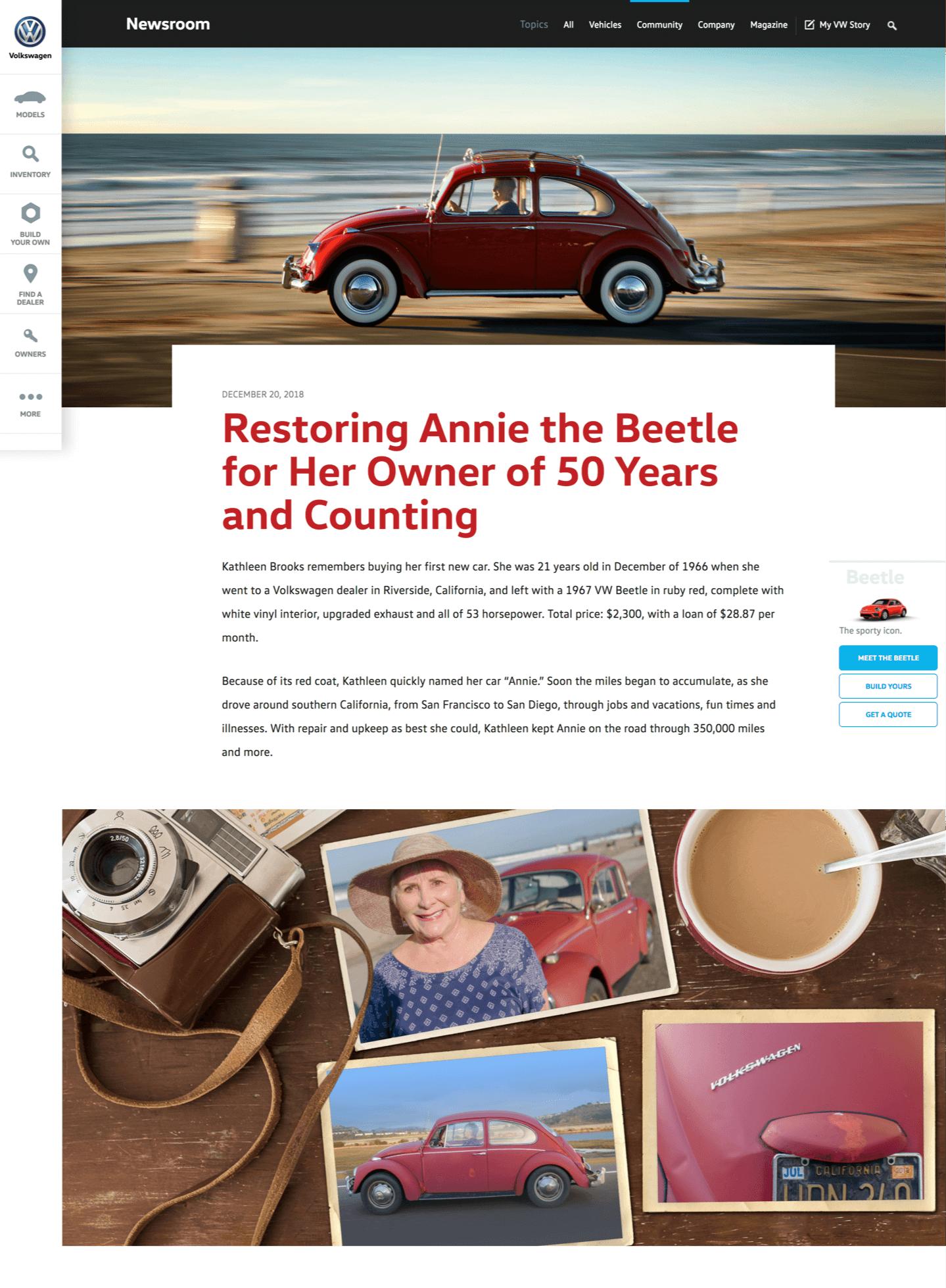 annie volkswagen restored