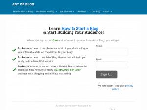 Blogging.com homepage
