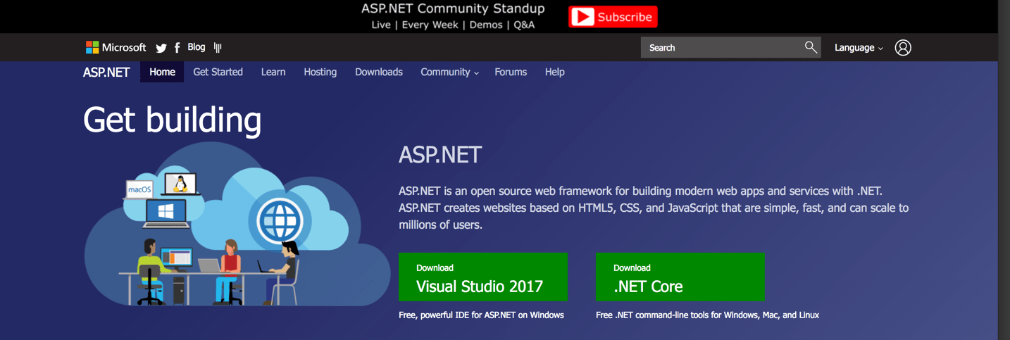asp-net homepage