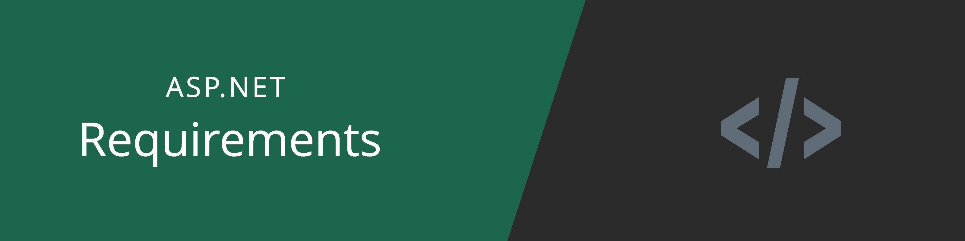 asp-net hosting requirements