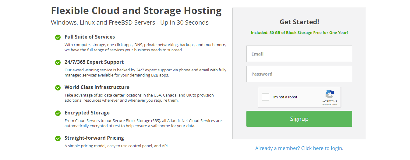 Atlantic.Net Free 50 GB