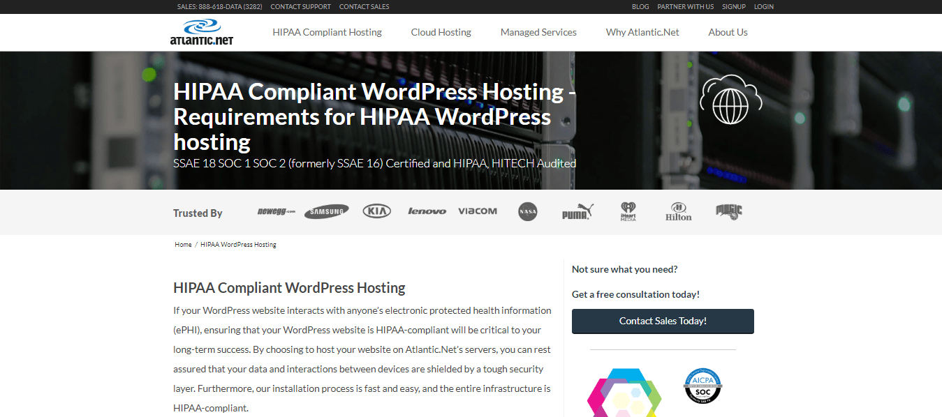 Atlantic.Net WordPress Hosting