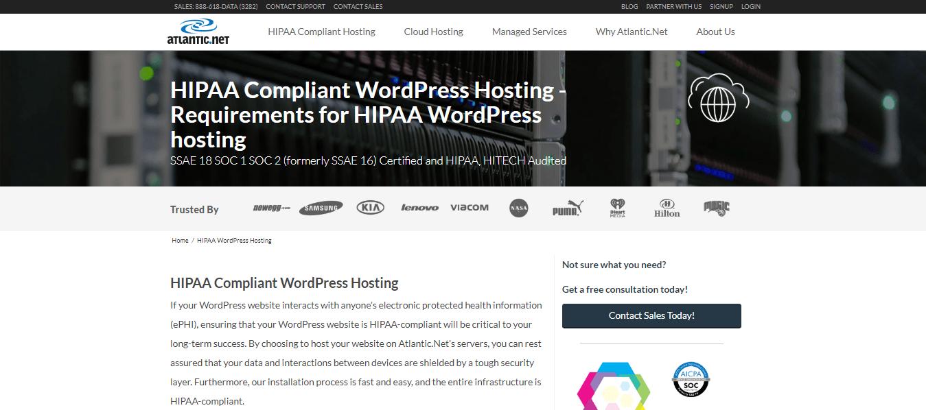 Atlantic.Net WordPress Hosting