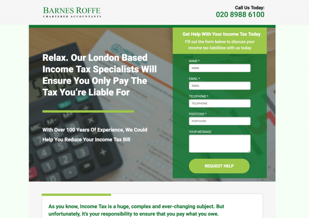 barnes roffe business page