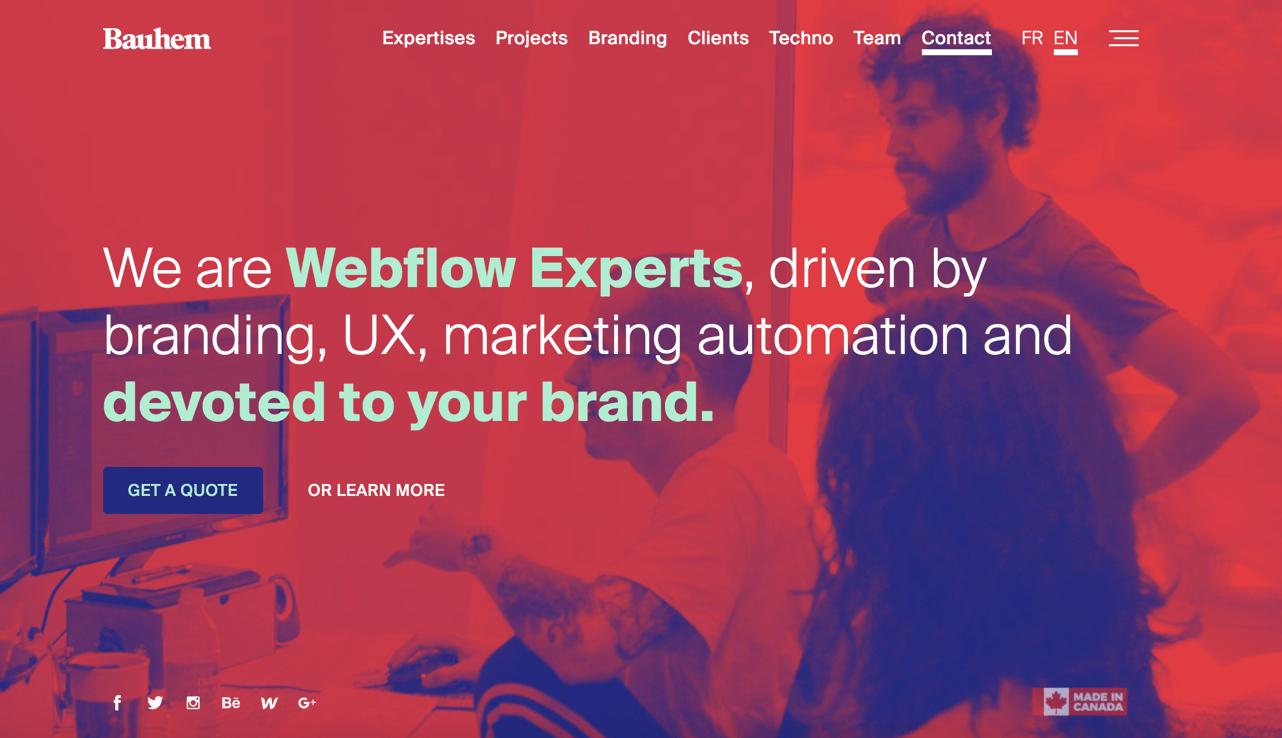bauhem webflow